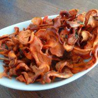 Chips d'épluchures de carottes